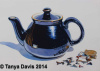 Hall Teapot with Shark Teeth and Magnifying Glass