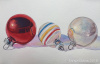 Vintage Ornaments Rainbow Stripes