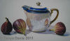 Noritake Pot with Figs