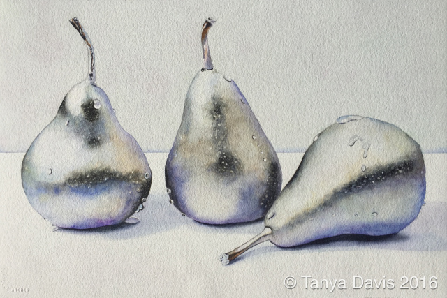 Frosted Silver Pears
