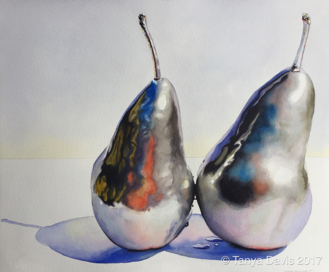 Silver pears, Landscape Tapestry