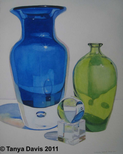 Blue and Green Glass