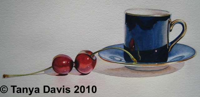 Demitasse with Two Cherries