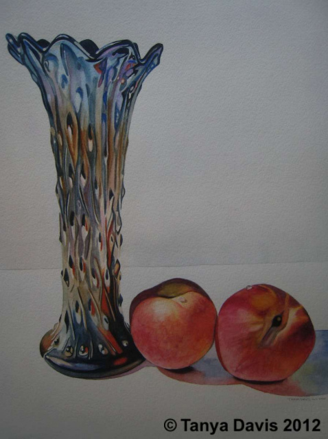 Northwood Vase with Peaches