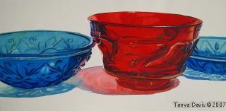 Red and Blue Glass