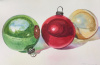 Vintage Ornaments: Green, Red and Gold (2018 #2)