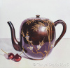Lacquer Teapot with Cherries