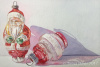 Vintage Ornaments: Santa with Lantern